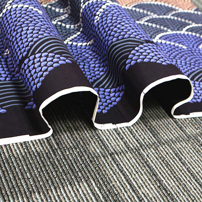 6 yard--wide african wax geometric printed fabric--polyester--blue beige--FP6272
