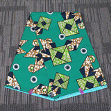 6 yard-100% cotton--super african real wax geometric printed fabric--green--24FS1361