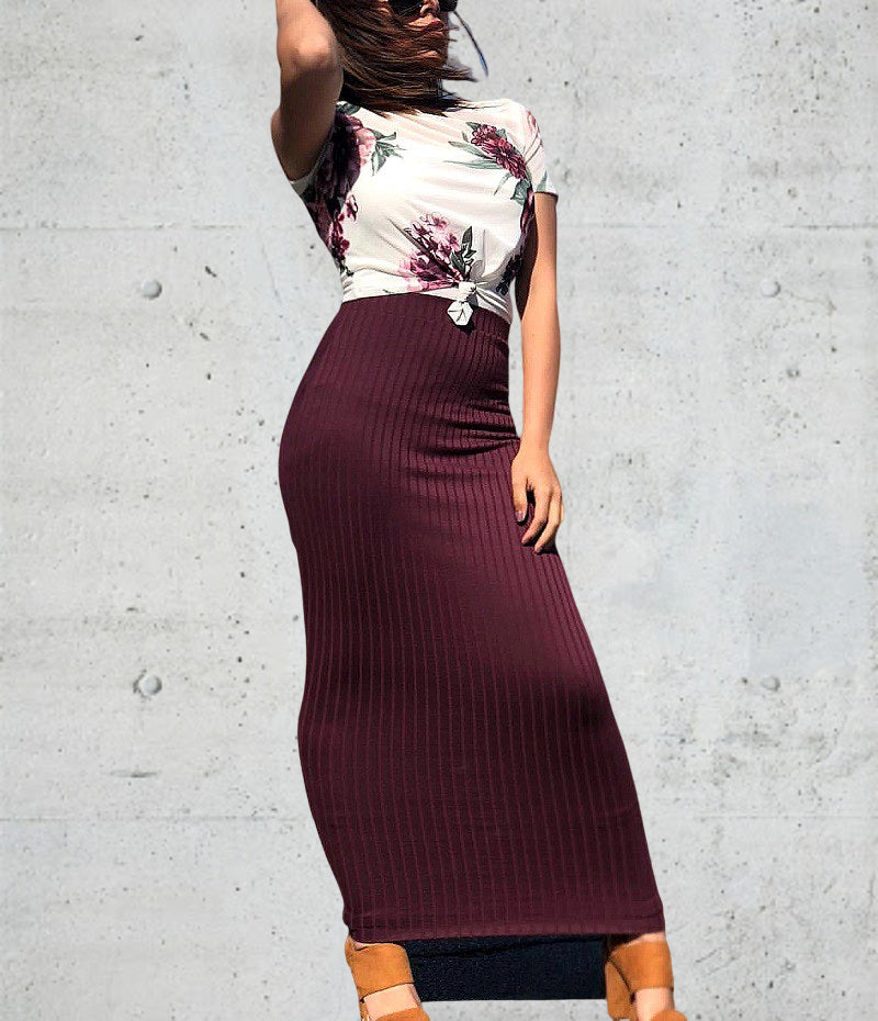 Woman lady muslim-black,pink,green,burgundy,brick-red,grey,navy blue,khaki-Knitted cotton-floor length-high quality sheath skirt KLN-SK9016