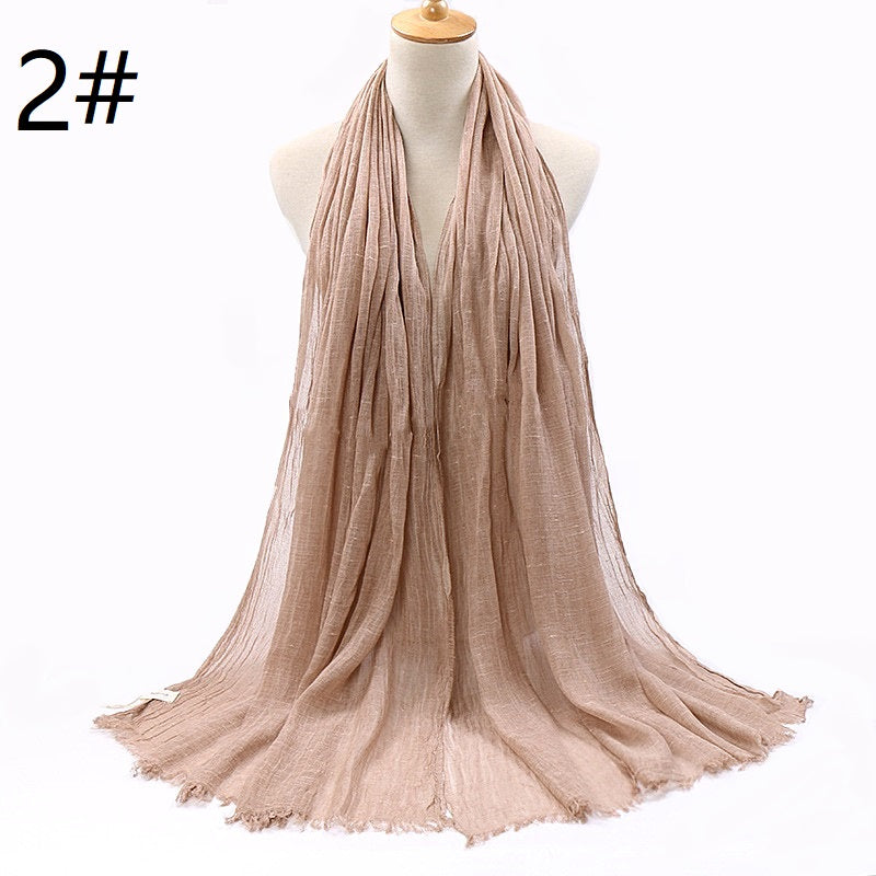 9 colors--solid--cotton scarf,shawl, muslim hijab AW-VS186