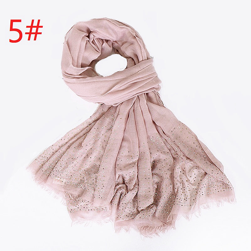 9 colors--glitter stone--cotton scarf,shawl, muslim hijab AW-VS104