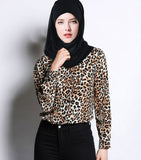 European style lady shirt--fit--leopard printed--brown--YNSHCH-312511