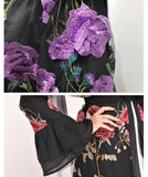 Muslim lady high quality abaya long cardigan--red,yellow,purple--embroided flowers--patchwork  LR189