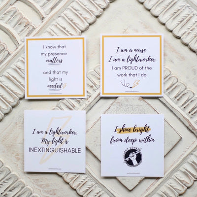 Lightworker Candle + Quote Cards