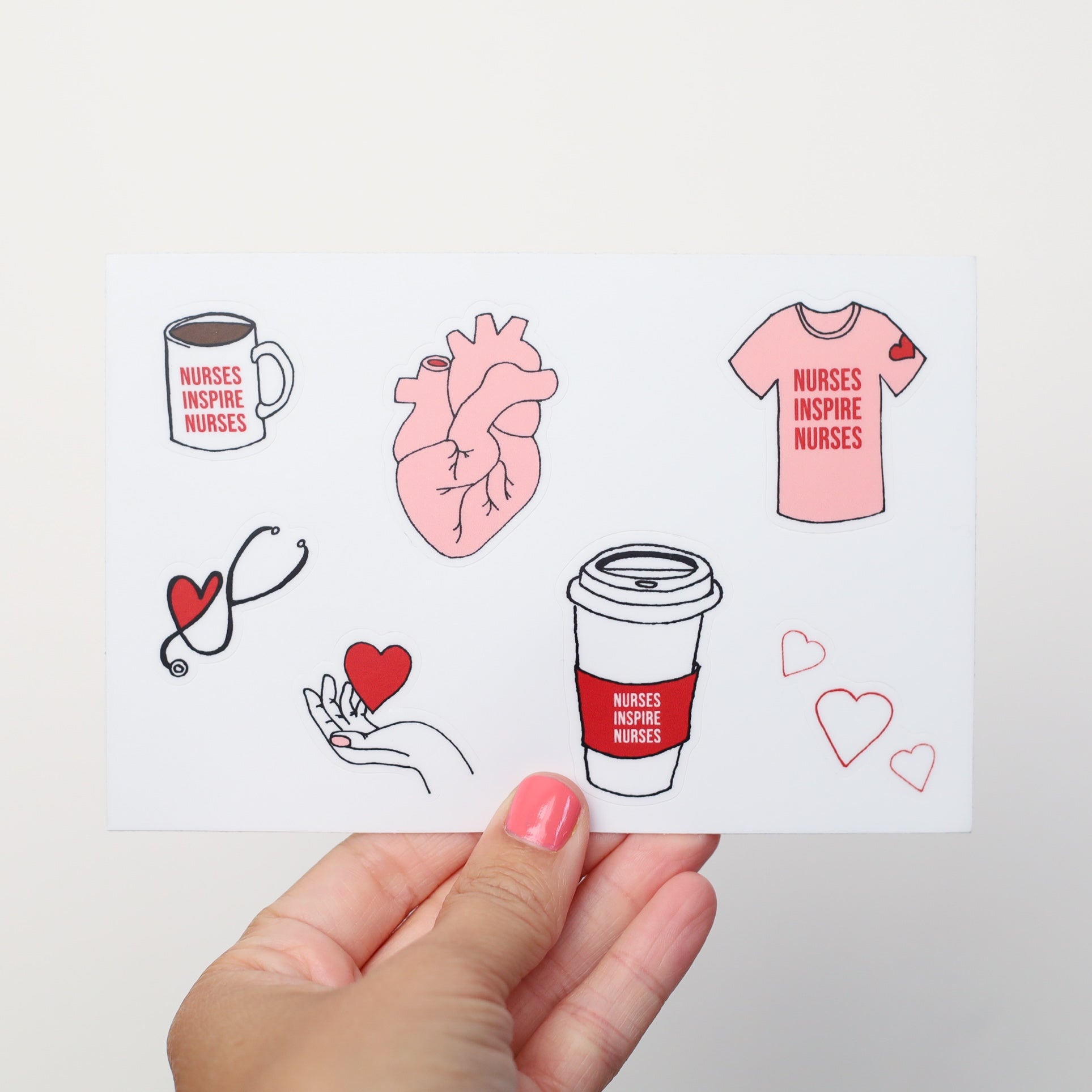 Heart On Your Sleeve 4X6 Sticker Sheet