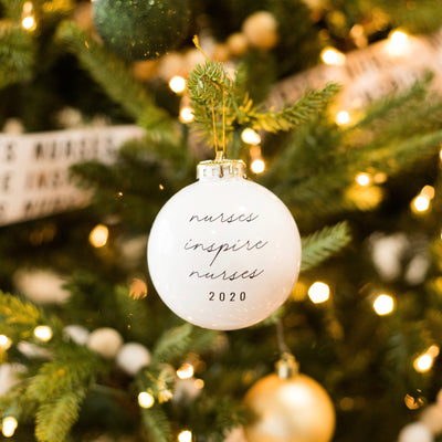 Nurses Inspire Nurses Ornament 2020