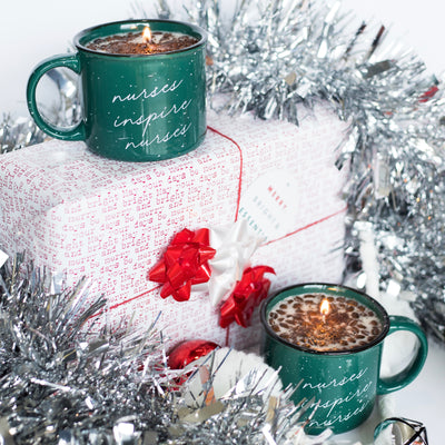 Green Coffee Mug Candle