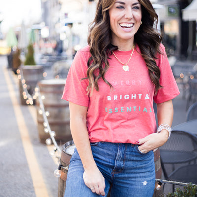 Merry, Bright & Essential Red Classic Tee