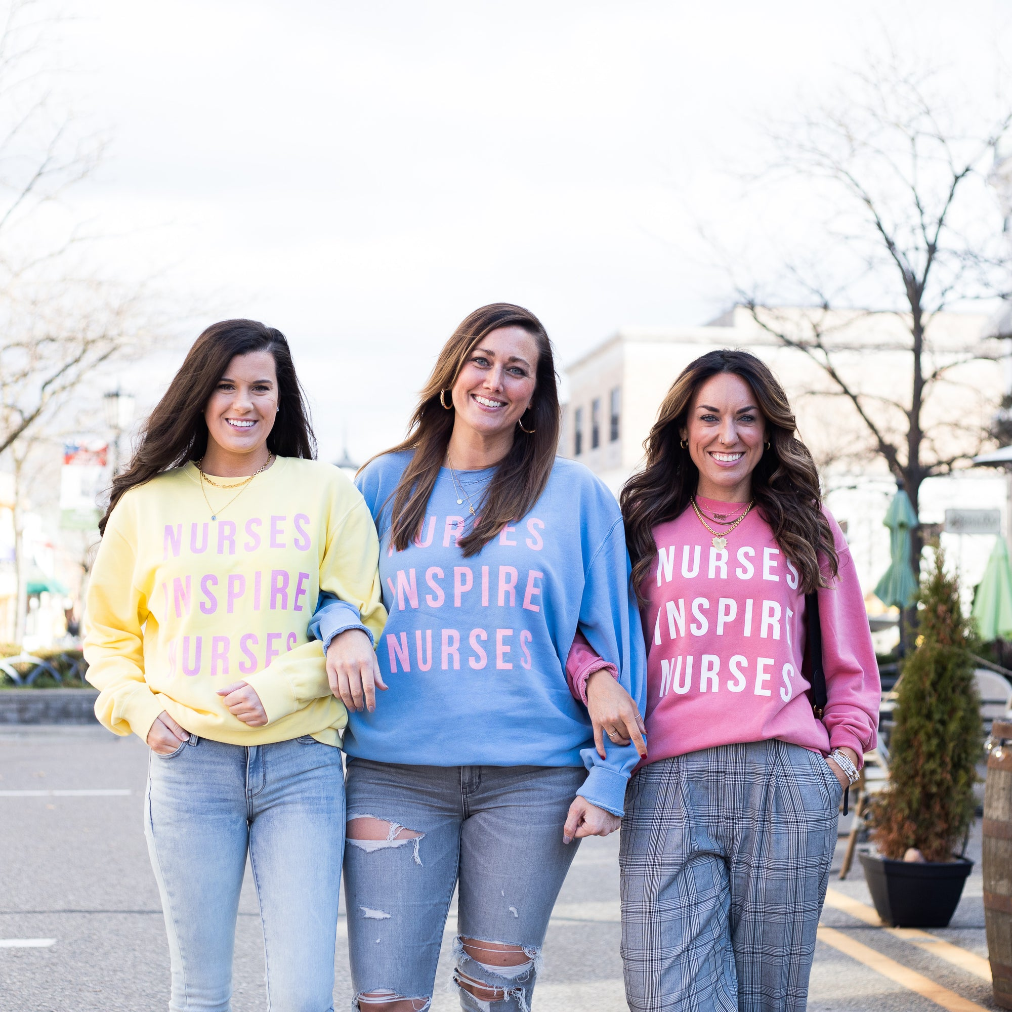 Nurses Inspire Nurses Pigment Dyed Crews