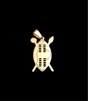 ZULU  WARRIOR SHIELD - GOLD