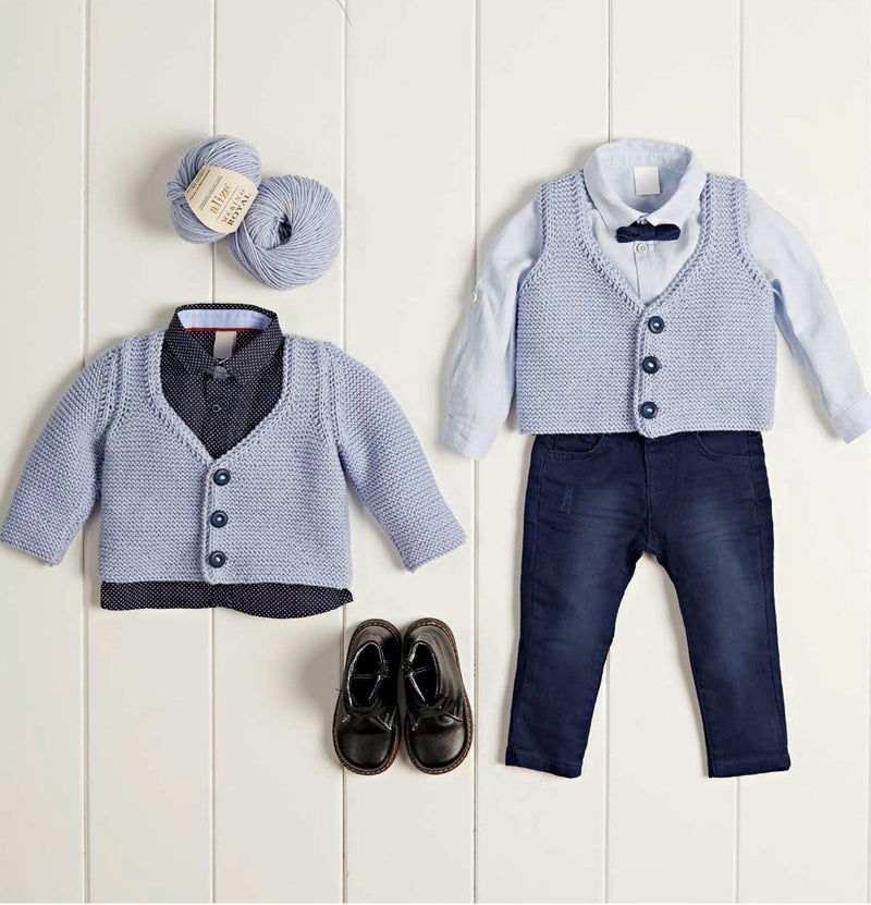 Baby Vest and Jacket Set Pattern