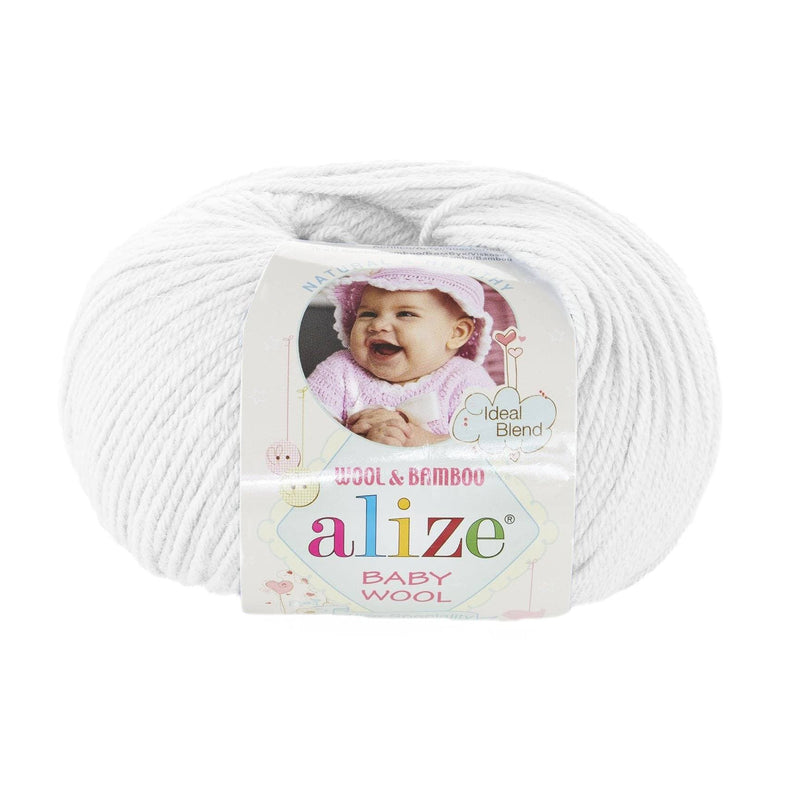 Alize Baby Wool Alize Baby Wool / White (55)