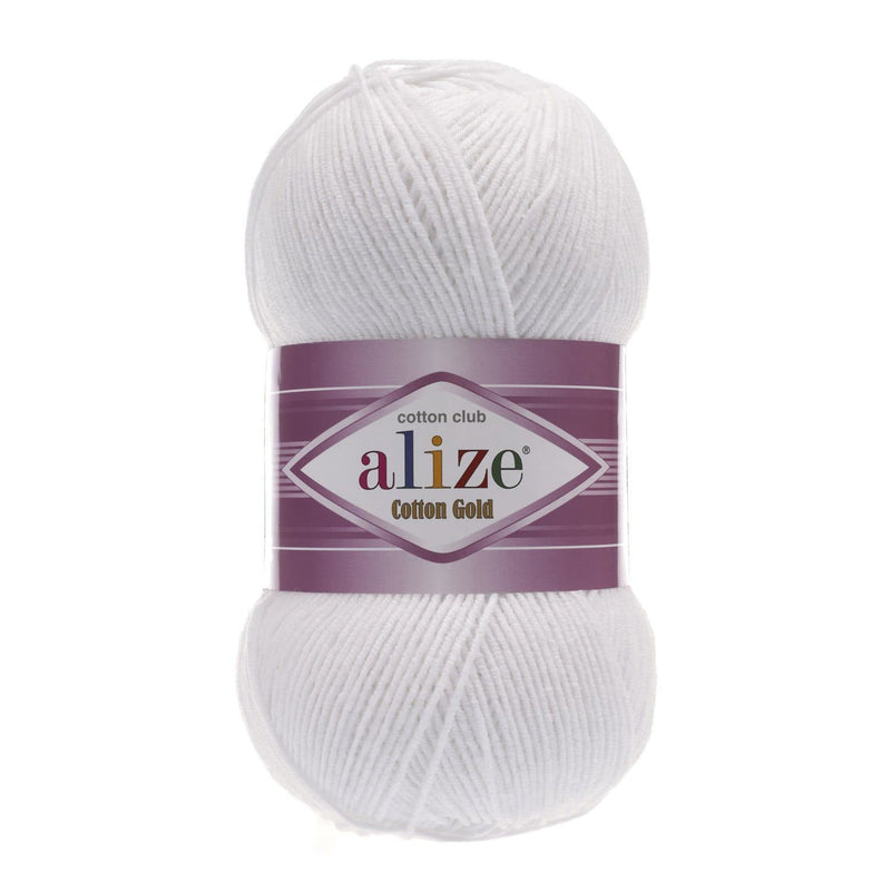 Alize Cotton Gold Alize Cotton Gold / White (55)