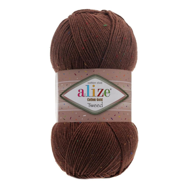 Alize Cotton Gold Tweed Alize Cotton Gold Tweed / Brown (493)