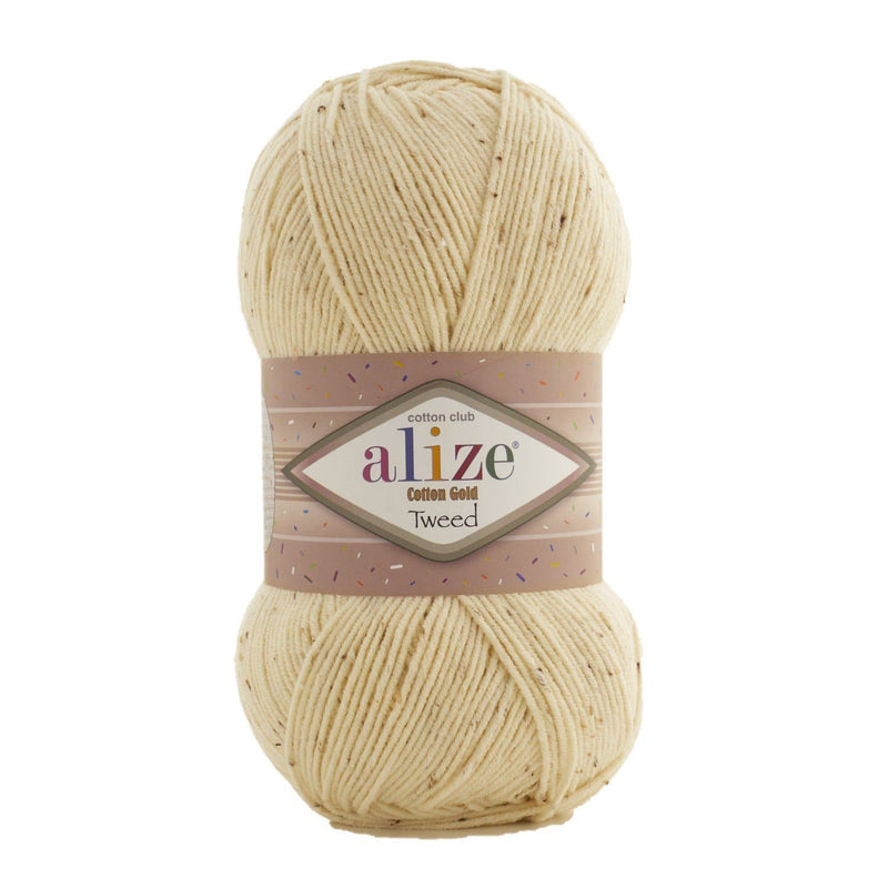 Alize Cotton Gold Tweed Alize Cotton Gold Tweed / Cream (1)