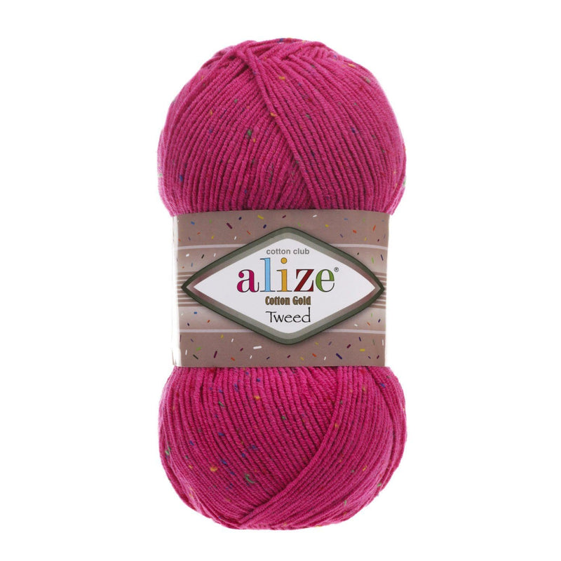 Alize Cotton Gold Tweed Alize Cotton Gold Tweed / Fuchsia (149)