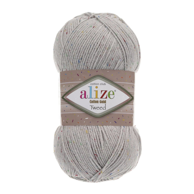 Alize Cotton Gold Tweed Alize Cotton Gold Tweed / Light Grey (200)