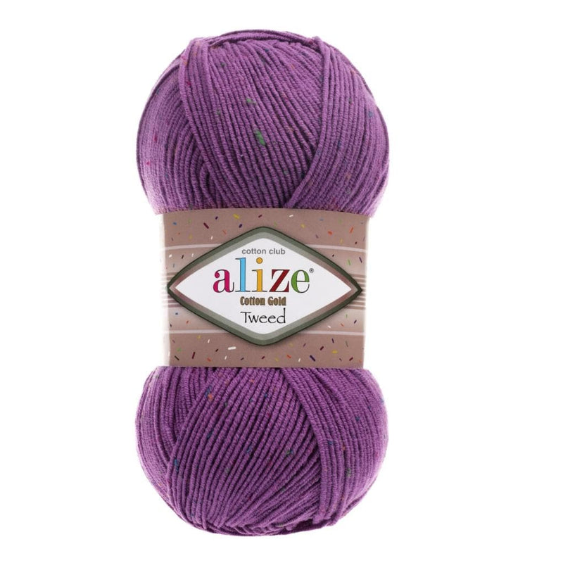 Alize Cotton Gold Tweed Alize Cotton Gold Tweed / Purple (616)