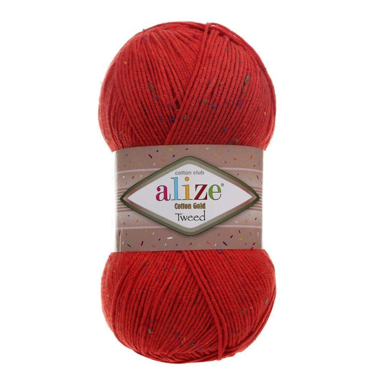 Alize Cotton Gold Tweed Alize Cotton Gold Tweed / Red (243)