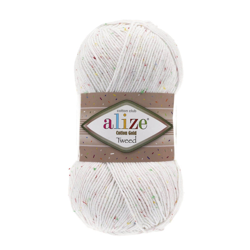 Alize Cotton Gold Tweed Alize Cotton Gold Tweed / White (55)