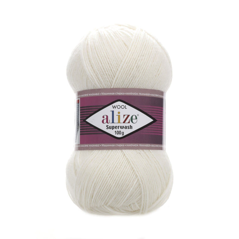 Alize Superwash 100 Alize Superwash / Cream (01)