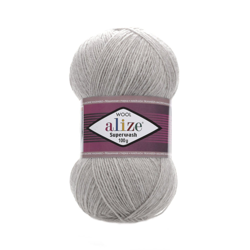 Alize Superwash 100 Alize Superwash / Grey Melange (21)