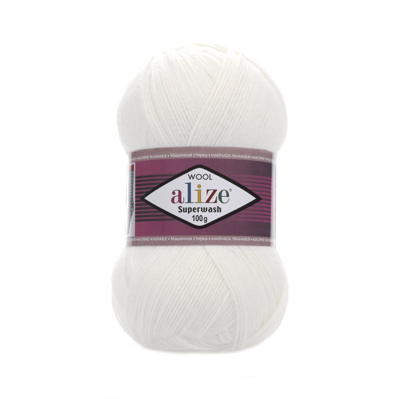 Alize Superwash 100 Alize Superwash / White (55)