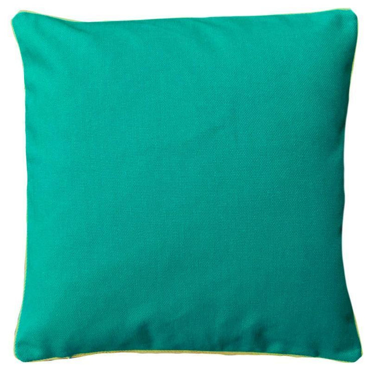 Plain Teal Cushion Cover 60cm x 60cm with Piping (Poly-Cotton) - Sunburst Outdoor Living