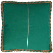 Teal Blue Cushion Cover 50cm x 50cm with Jute Edging (Poly-Cotton) - Sunburst Outdoor Living