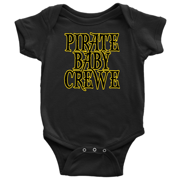 pirate baby crewe, crew, baby, onesie, jumper, shirt, t-shirt, tee, pirate, captain, wench, matey, scallywag, seadog, sea dog