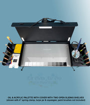 Professional Series Oil & Acrylic Palette with Cover and Two Slide Out Shelves