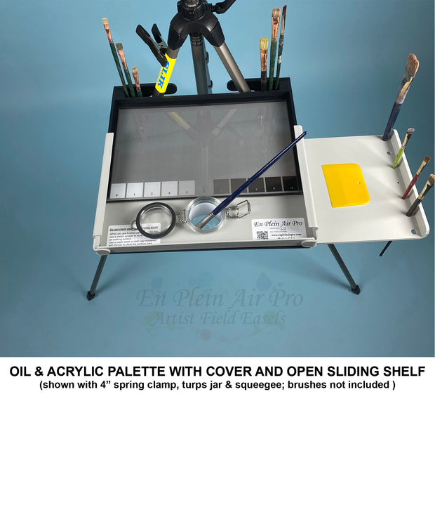 Advanced Series Oil & Acrylic Palette with Cover and single Slide Out Shelf