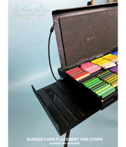 Pastel Plein Air Palette with Cover, Pastel Organizer Tray, and Two Slide Out Shelves
