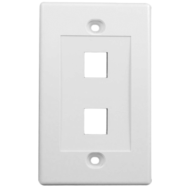 Wall Cover for 2 Data Jacks