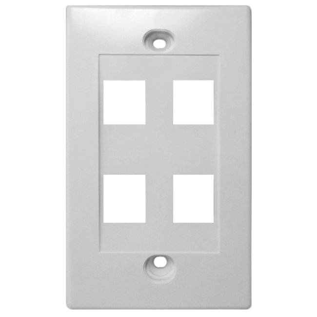 Four Port Keystone Face Plate