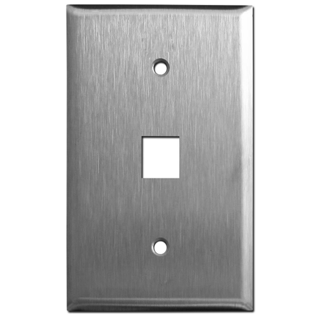 Keystone Faceplate Stainless Steel Single Port