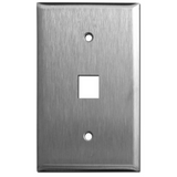 1-Port Stainless Steel Keystone Faceplate