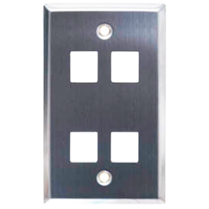 4 Port Keystone Faceplate Stainless Steel
