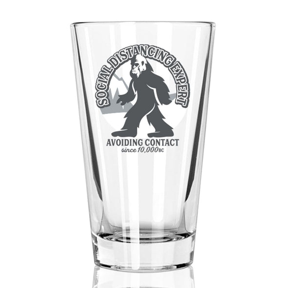 Social Distancing Expert Since 10,000 BC - Pint Glass