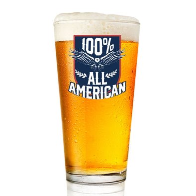 100% All American - Pint Glass