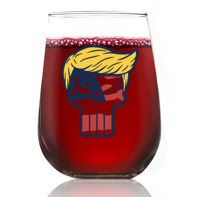 Trump Punisher - Wine Glass