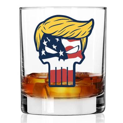 Trump Punisher - Whiskey Glass