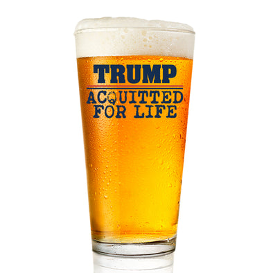 Pint Glass - Trump Acquitted for Life - Color