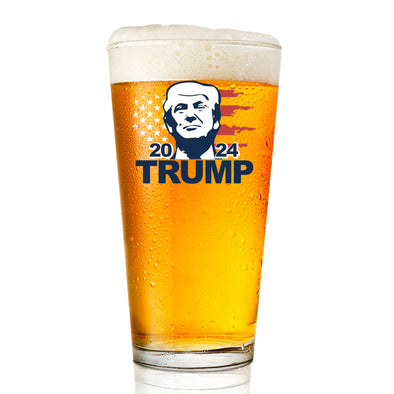 Pint Glass - Trump 2024 Portrait - Color