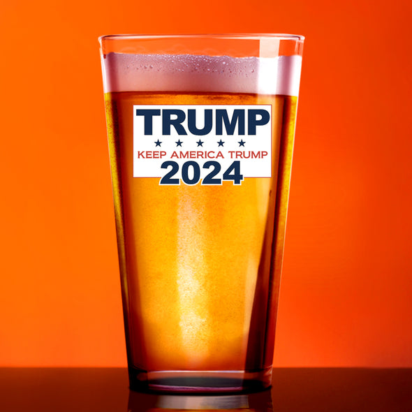 Pint Glass - Trump 2024 Keep America Trump - Color