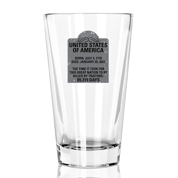 Pint Glass - US Tombstone
