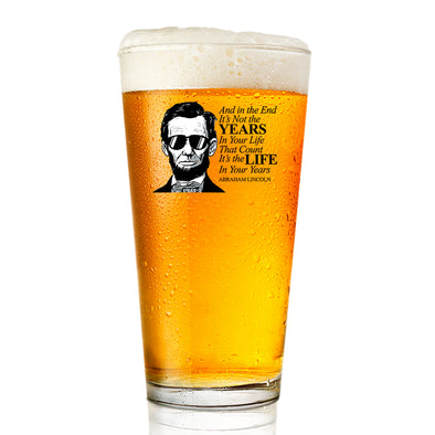 Pint Glass - Lincoln in Shades