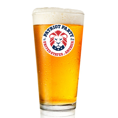 Patriot Party Lion - Pint Glass