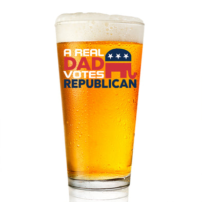 Pint Glass - A Real Dad Votes Republican