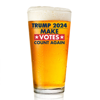 Pint Glass - Trump 2024 Make Votes Count Again